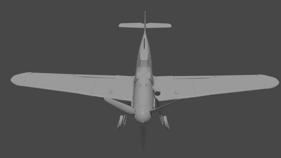 Bf-109 royalty-free 3d model - Preview no. 3