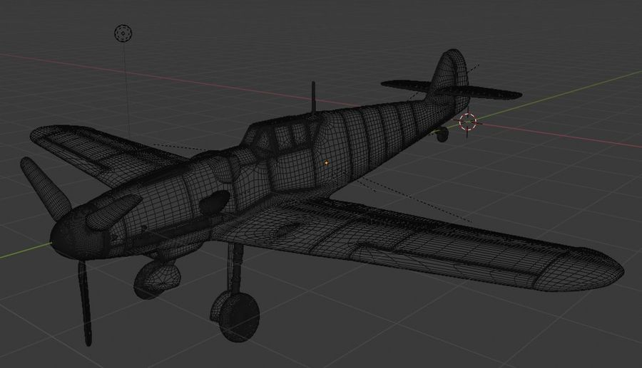 Bf-109 royalty-free 3d model - Preview no. 2