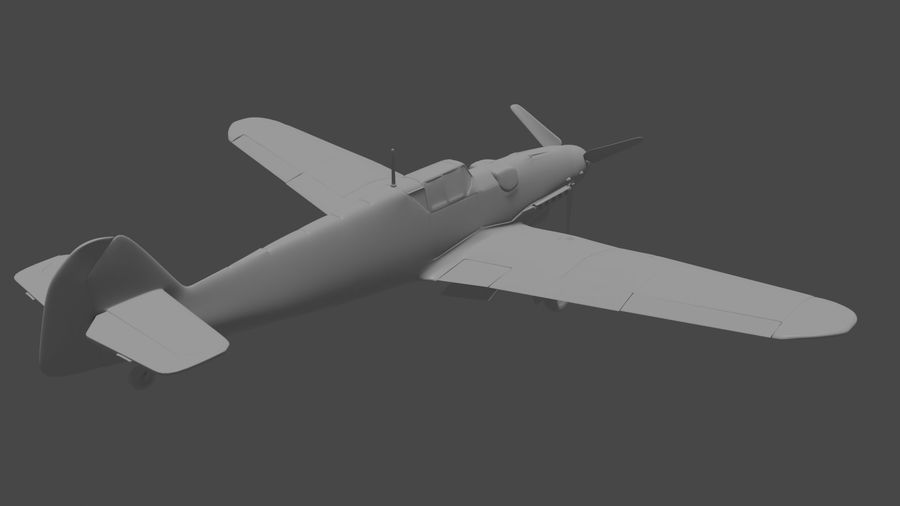 Bf-109 royalty-free 3d model - Preview no. 5