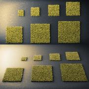 Mousse carrée Low Poly 3d model