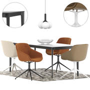 Boconcept - Vienna Chair + tavolo torino 3d model