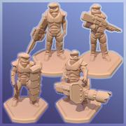 Drukuj 28 mm Sci-fi Soldier 3d model