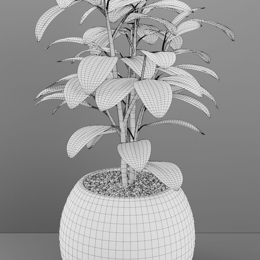 Home plant pot royalty-free 3d model - Preview no. 6