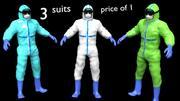 Docteur EPI Costume Hazmat Travailleur Vêtements De Protection Body Combinaison De Sécurité Danger Combinaison Combinaison Combinaison Chimique 3d model