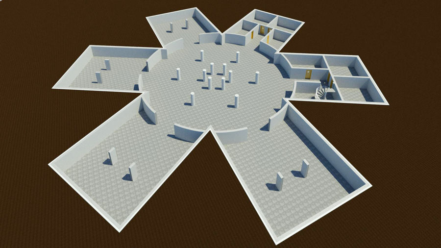 Museo royalty-free 3d model - Preview no. 13