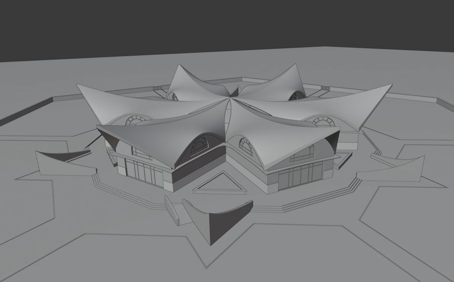 Museo royalty-free 3d model - Preview no. 14