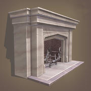 Neo Gothic Fireplace 3d model