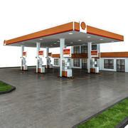 3D-bensinstation 3d model
