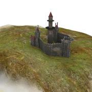 Medieval Castle Lighthouse 3d model