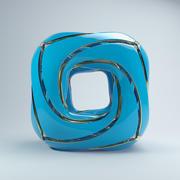 圆形立方体 3d model