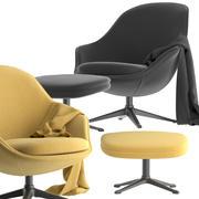 Cadeira viva Boconcept-adelaide 3d model