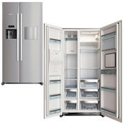 fridge bosch kag90ai20 silver 3d model