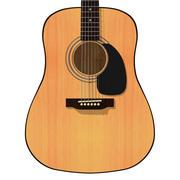Akustik Gitar: Eskiz Biçimi 3d model