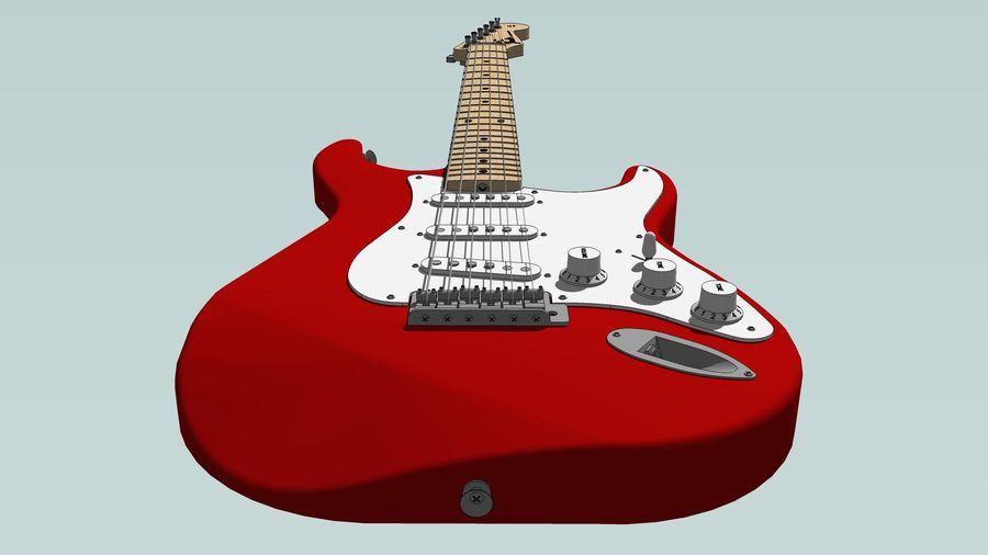 Elektrisk gitarr: Fender Stratocaster: Sketchup-format royalty-free 3d model - Preview no. 16