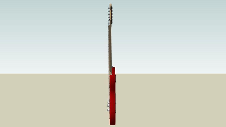 Elektrisk gitarr: Fender Stratocaster: Sketchup-format royalty-free 3d model - Preview no. 6