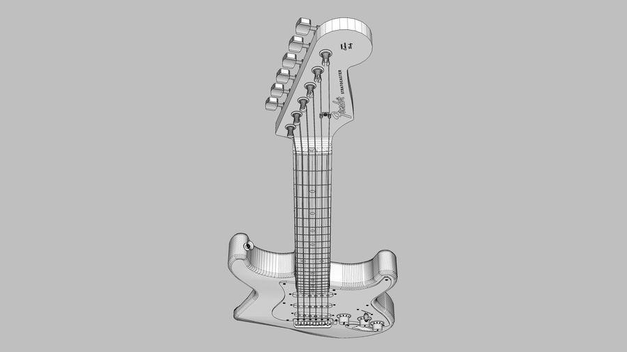 Elektrisk gitarr: Fender Stratocaster: Sketchup-format royalty-free 3d model - Preview no. 23