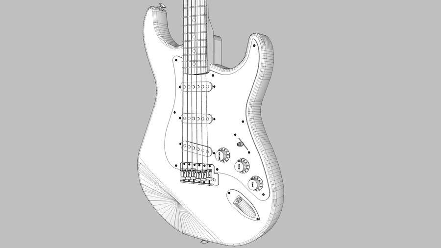Elektrisk gitarr: Fender Stratocaster: Sketchup-format royalty-free 3d model - Preview no. 13