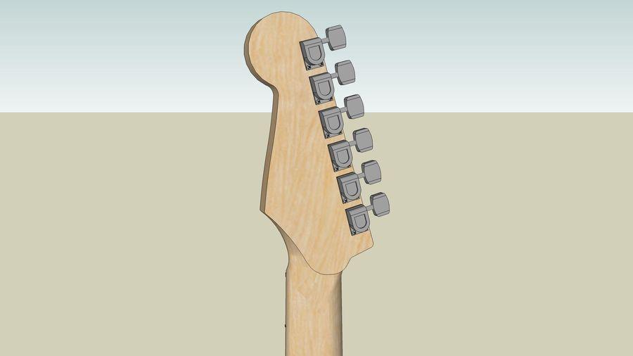 Elektrisk gitarr: Fender Stratocaster: Sketchup-format royalty-free 3d model - Preview no. 20