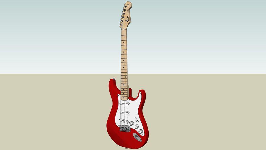 Elektrisk gitarr: Fender Stratocaster: Sketchup-format royalty-free 3d model - Preview no. 4