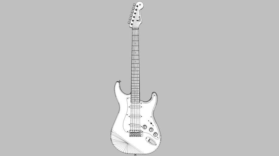Elektrisk gitarr: Fender Stratocaster: Sketchup-format royalty-free 3d model - Preview no. 3