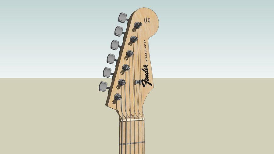 Elektrisk gitarr: Fender Stratocaster: Sketchup-format royalty-free 3d model - Preview no. 18