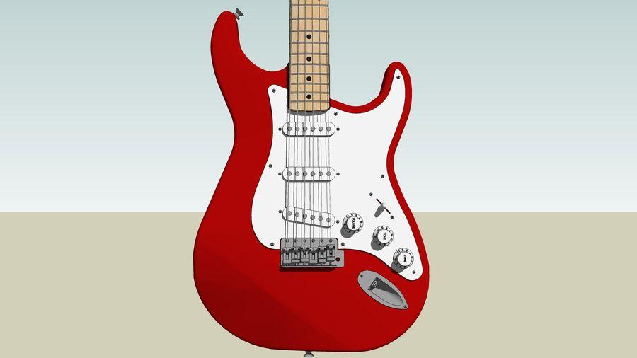 Elektrisk gitarr: Fender Stratocaster: Sketchup-format royalty-free 3d model - Preview no. 10