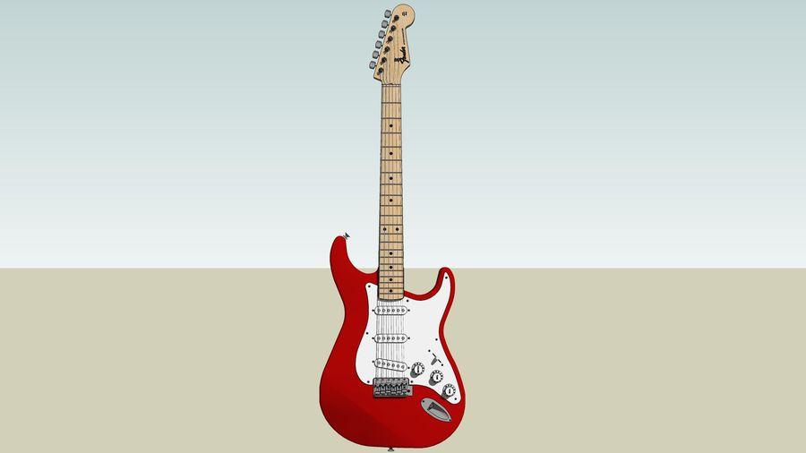 Elektrisk gitarr: Fender Stratocaster: Sketchup-format royalty-free 3d model - Preview no. 2