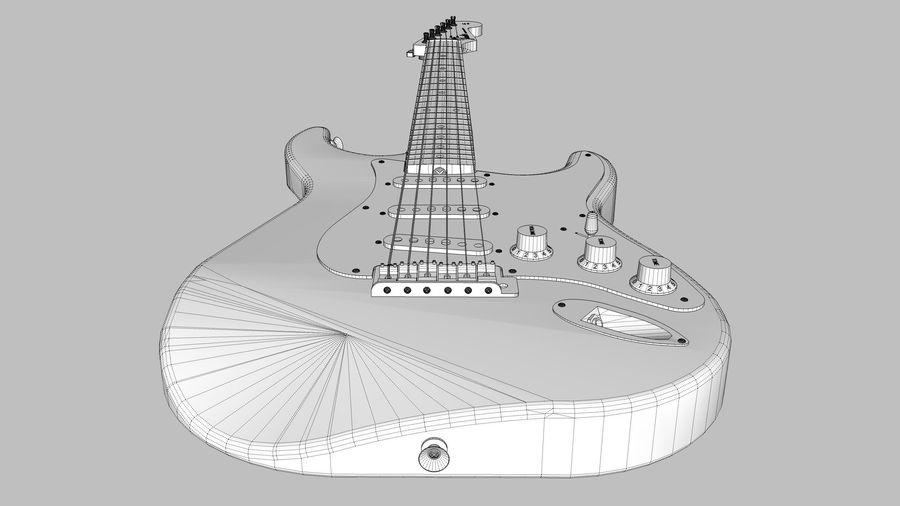 Elektrisk gitarr: Fender Stratocaster: Sketchup-format royalty-free 3d model - Preview no. 17
