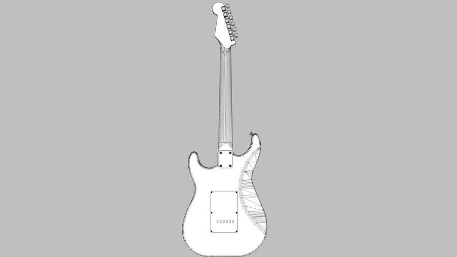 Elektrisk gitarr: Fender Stratocaster: Sketchup-format royalty-free 3d model - Preview no. 9