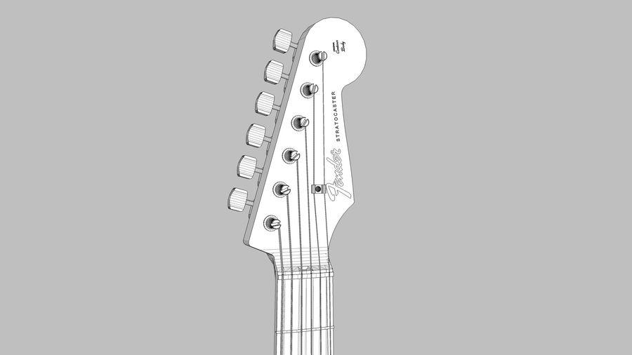 Elektrisk gitarr: Fender Stratocaster: Sketchup-format royalty-free 3d model - Preview no. 19