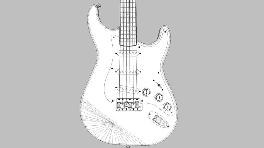 Elektrisk gitarr: Fender Stratocaster: Sketchup-format royalty-free 3d model - Preview no. 11