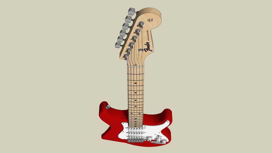 Elektrisk gitarr: Fender Stratocaster: Sketchup-format royalty-free 3d model - Preview no. 22