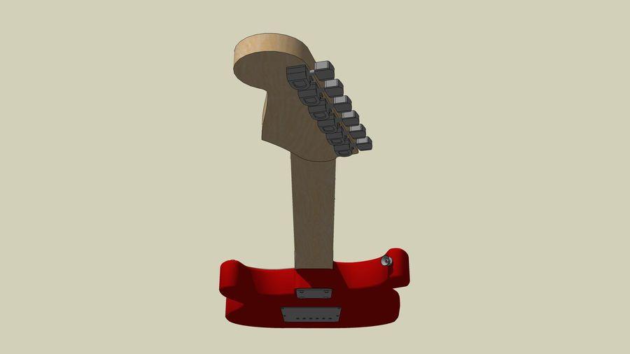 Elektrisk gitarr: Fender Stratocaster: Sketchup-format royalty-free 3d model - Preview no. 24