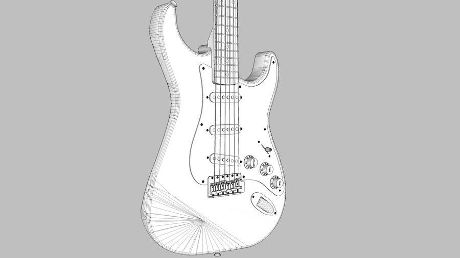 Elektrisk gitarr: Fender Stratocaster: Sketchup-format royalty-free 3d model - Preview no. 15