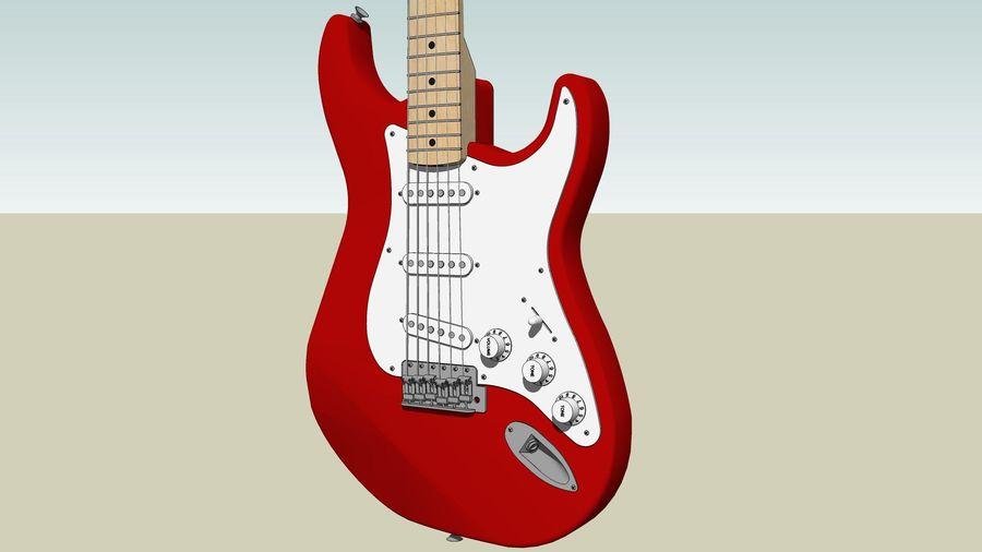 Elektrisk gitarr: Fender Stratocaster: Sketchup-format royalty-free 3d model - Preview no. 12