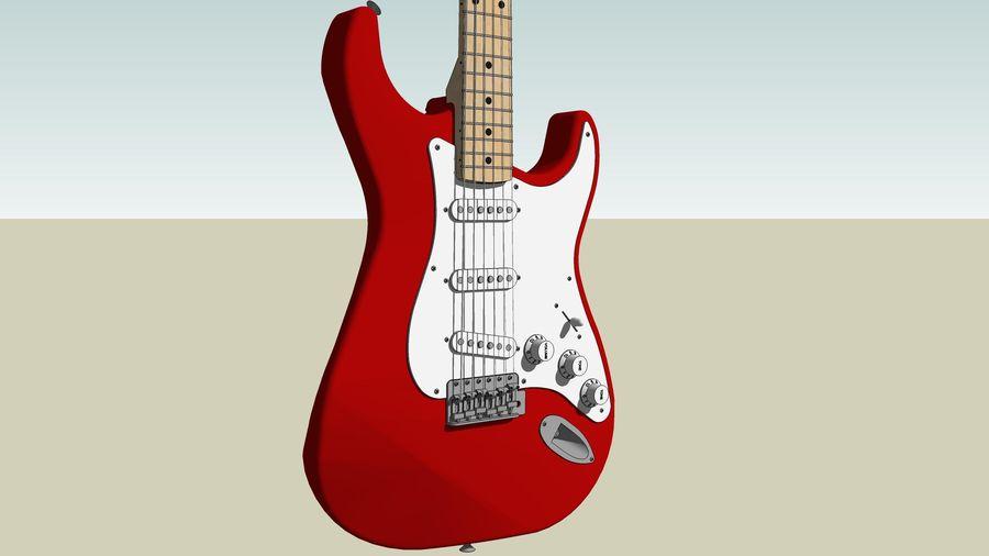 Elektrisk gitarr: Fender Stratocaster: Sketchup-format royalty-free 3d model - Preview no. 14