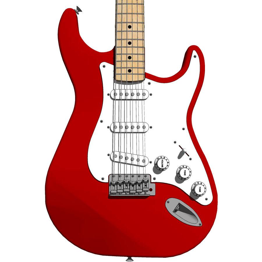 Elektrisk gitarr: Fender Stratocaster: Sketchup-format royalty-free 3d model - Preview no. 1