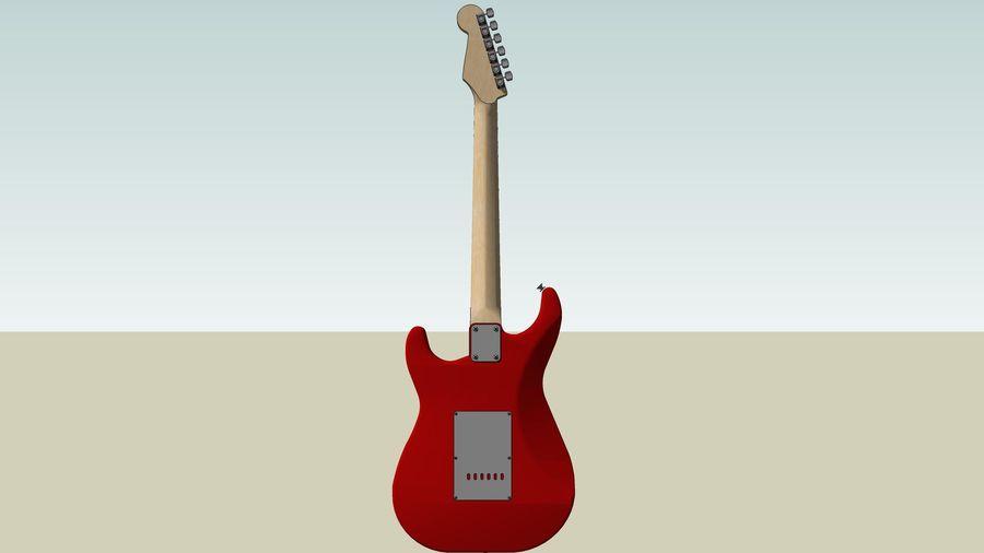 Elektrisk gitarr: Fender Stratocaster: Sketchup-format royalty-free 3d model - Preview no. 8