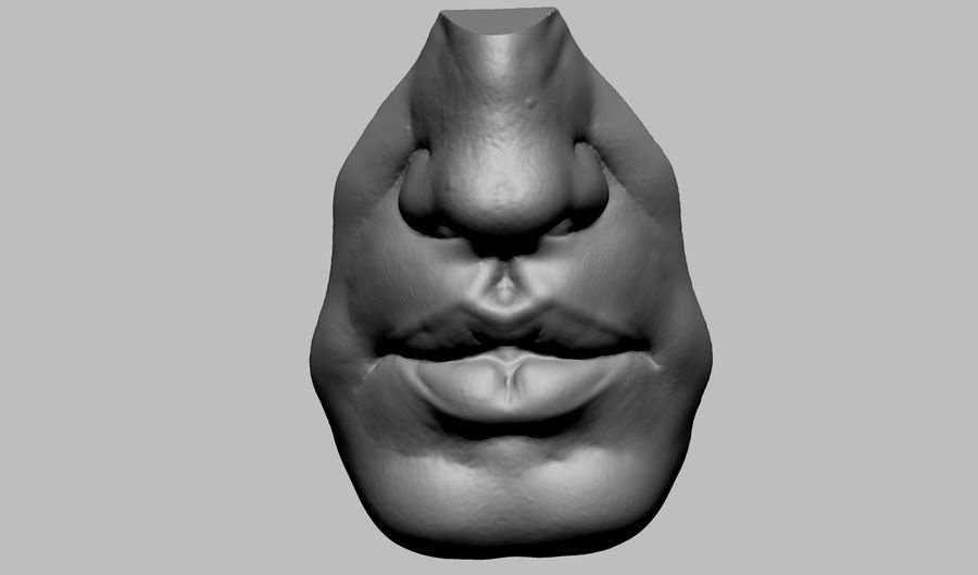 Bouche royalty-free 3d model - Preview no. 3