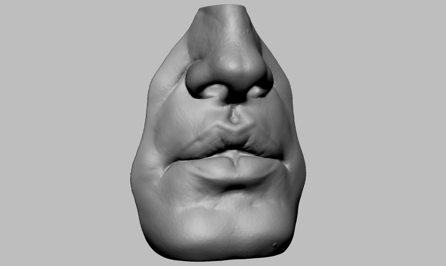 Bouche royalty-free 3d model - Preview no. 1