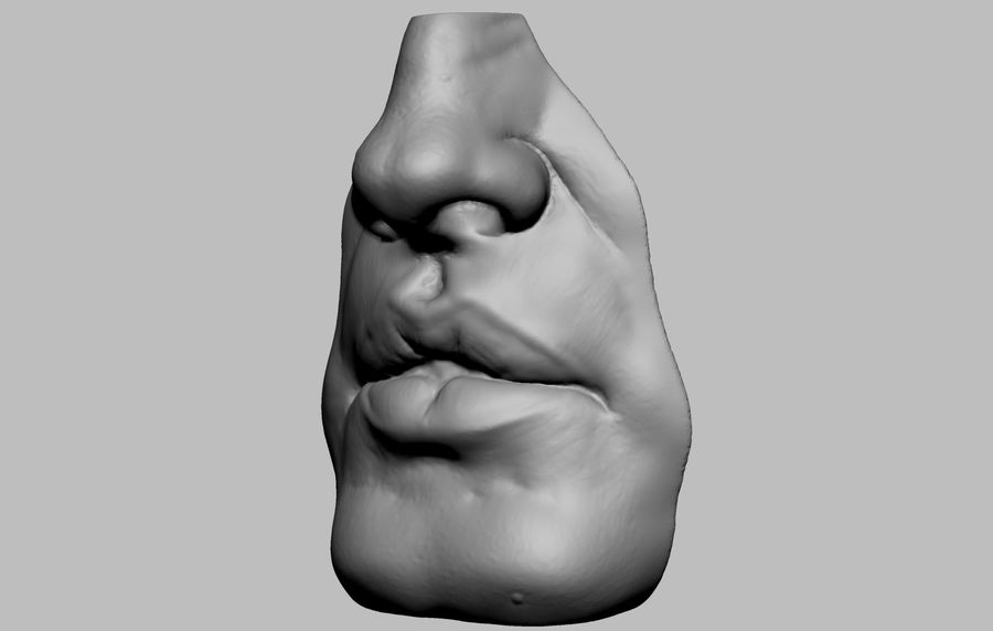 Bouche royalty-free 3d model - Preview no. 2