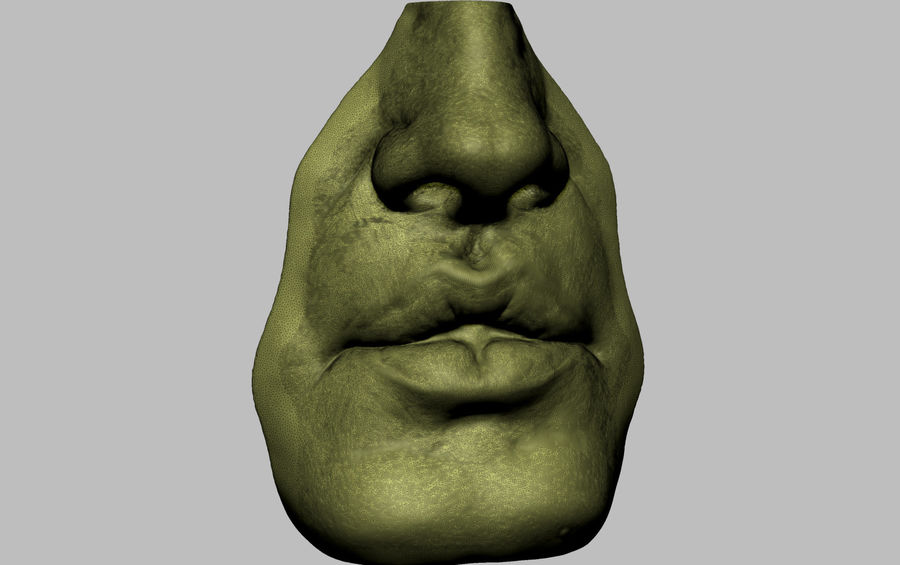 Bouche royalty-free 3d model - Preview no. 6