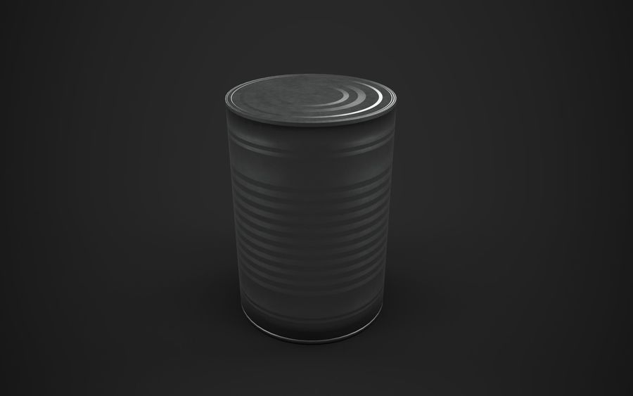 Food Tin can (Game-Ready) royalty-free 3d model - Preview no. 4