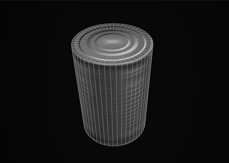 Food Tin can (Game-Ready) royalty-free 3d model - Preview no. 5
