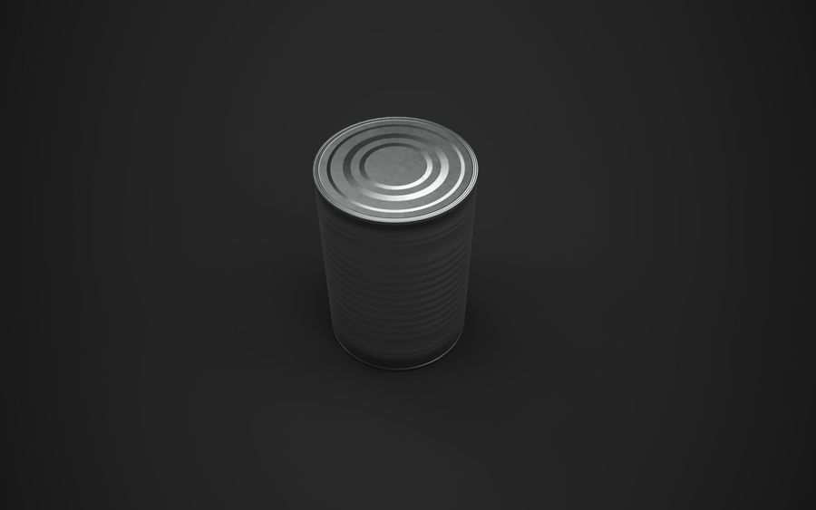 Food Tin can (Game-Ready) royalty-free 3d model - Preview no. 3