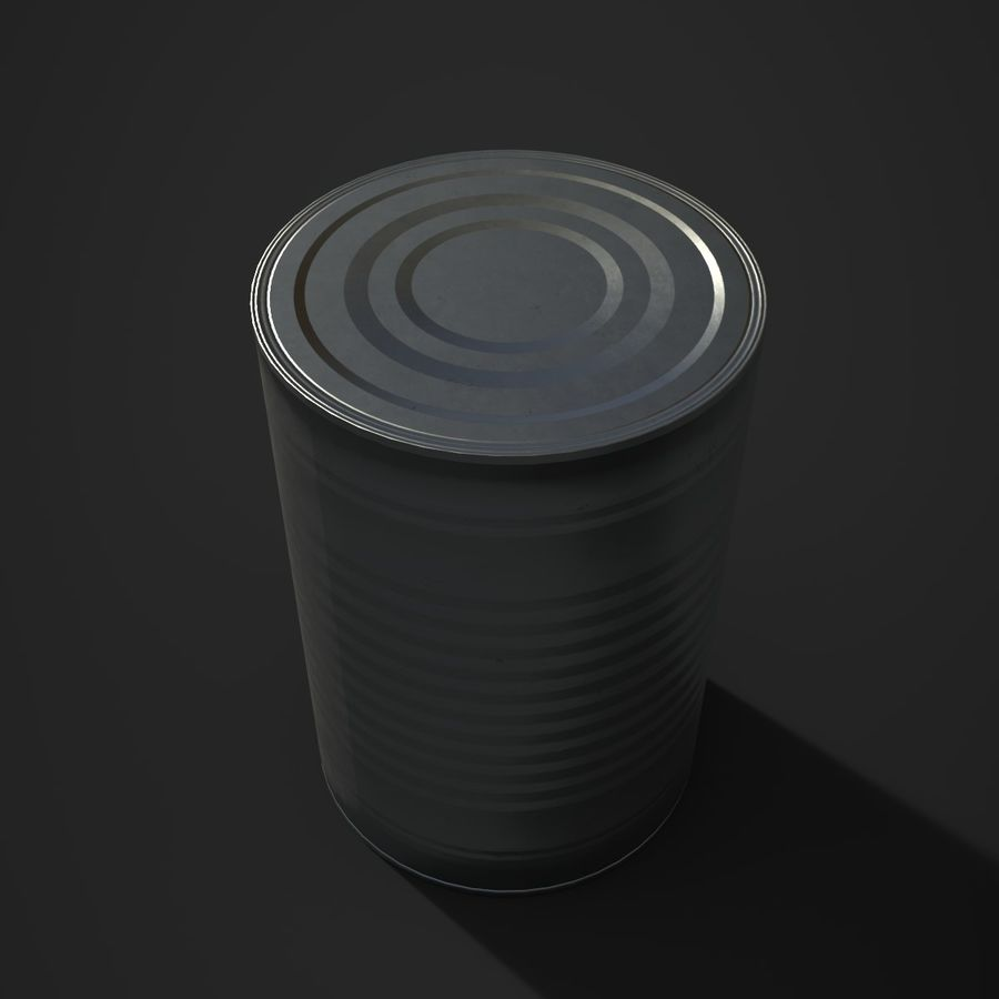 Food Tin can (Game-Ready) royalty-free 3d model - Preview no. 1