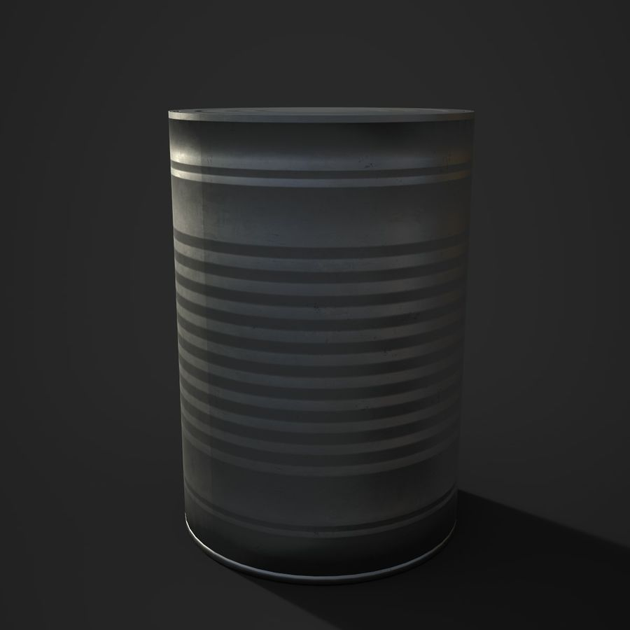 Food Tin can (Game-Ready) royalty-free 3d model - Preview no. 2