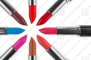 Lipstick is with a red color 3d model