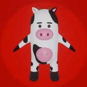 Vaca dos desenhos animados 3d model