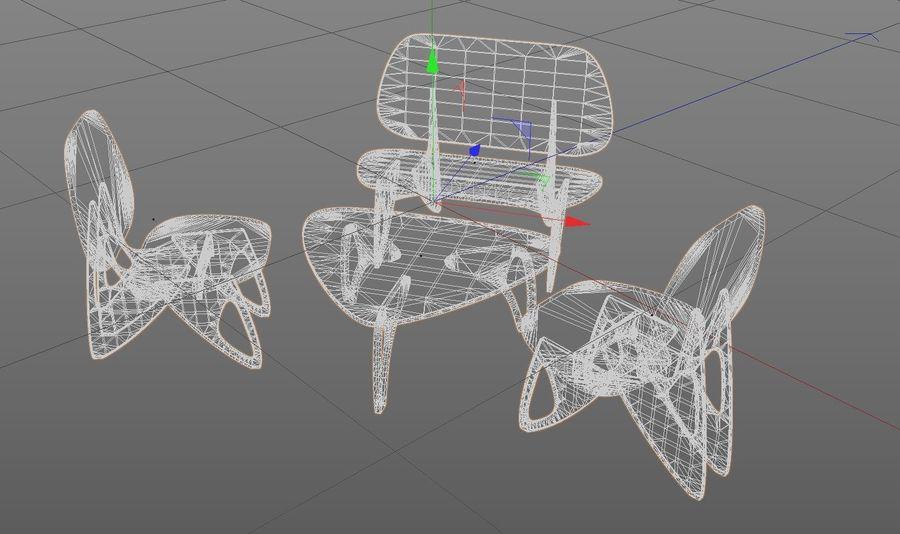 3M Muebles silla sillón mesa royalty-free modelo 3d - Preview no. 6